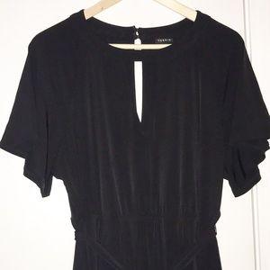 Torrid Stunning Black Hi-Lo Dress w/ peep hole 2X